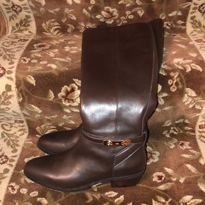 COACH(BRAND NEW!)-NVR WORN TALL BROWN LEATHER BOOT
